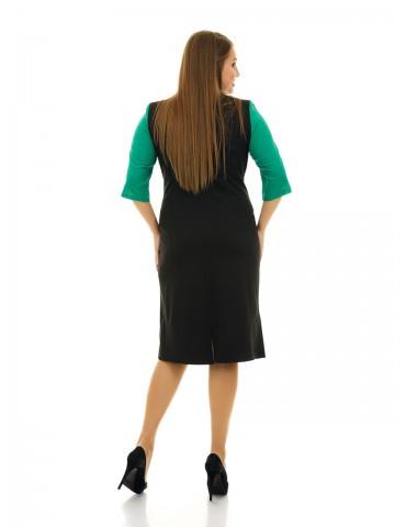 Платье из трикотажа с креп-шифоном ДК-1075