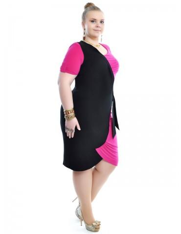 Эффектное платье, с имитацией запаха 377,380,385,399