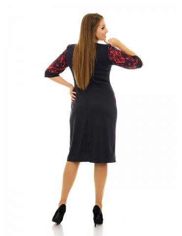 Платье с гипюровыми вставками ДК-1079