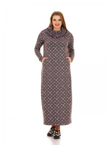 Повседневное платье Луи Вуитон, с карманами и хомутом ДК-1130