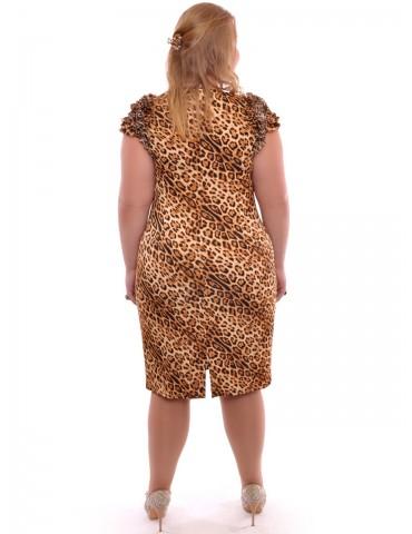Платье женское с коротким рукавом размеры 48-62 Тигровая расцветка 257