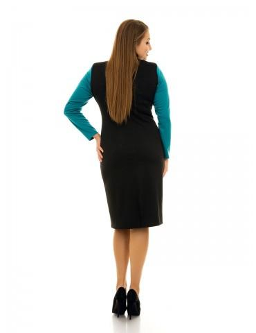 Платье с красивым вырезом и гипюром ДК-1081