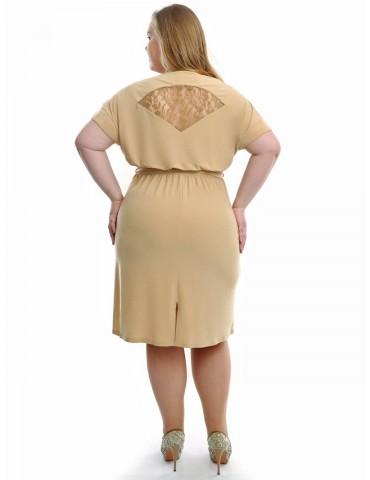 """Нарядное платье-миди """"Гипюрные вставки"""" 737"""