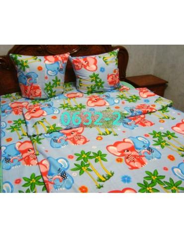 Постельное в детскую кроватку, манеж Слоники гол 0632-2 М