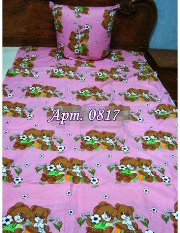 Постельное в детскую кроватку, манеж Заботливые Мишки розовый 0817 М