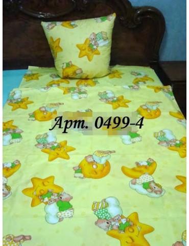 Постельное в детскую кроватку, манеж Звездочки зел 0499-4 М