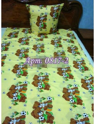 Постельное в детскую кроватку, манеж Заботливые Мишки желтый 0817-2 М