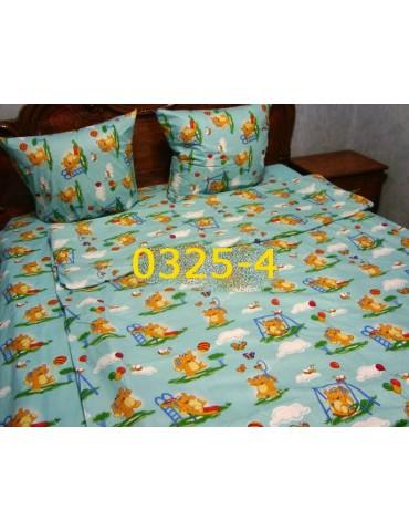 Постельное в детскую кроватку, манеж бирюза 0325-4 М