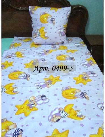 Постельное в детскую кроватку, манеж Звездочки голубой 0499-5 М