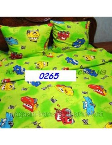 Постельное в детскую кроватку Тачки голубой 0265 М