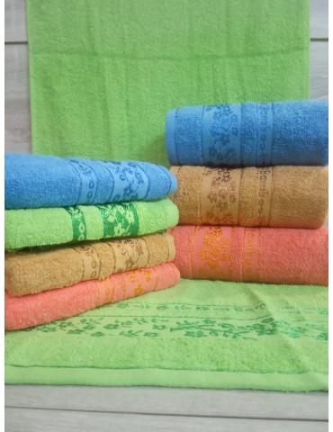 БАННОЕ махровое полотенце . Махровые полотенца оптом Веточка