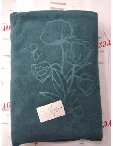 Полотенца из микрофибры Тюльпаны размер 140*70 см,