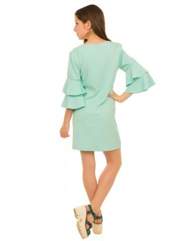 Платье Валери, бирюзовый