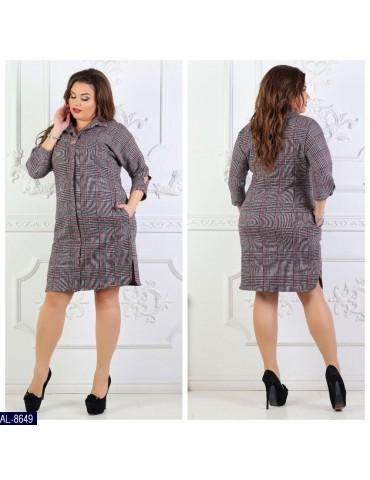 Платье-рубашка AL-8649