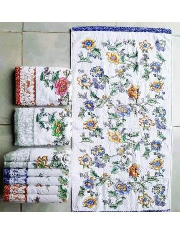 БАННОЕ полотенце велюр с цветами. Махровые полотенца оптом Арт. 35-1