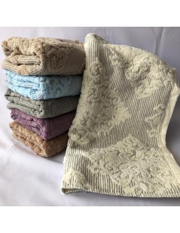 БАННОЕ полотенце , Лен+махра качество. Махровые полотенца оптом 23-1