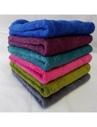 БАННОЕ полотенце микрофибра. Махровые полотенца оптом 172-1
