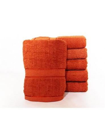Полотенце однотонное для гостиниц, Терракотовое, размер 50*90 см (в упаковке 6 шт), Арт. 311