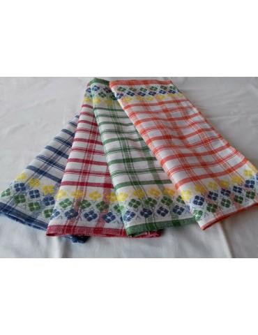 Льняные полотенца с вышивкой (плотные) р. 40*65 см, в упаковке 12 шт 411