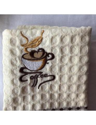 Кухонные полотенца вафельные Кофе, размер 45*65 см, (в уп. 12 шт) 413