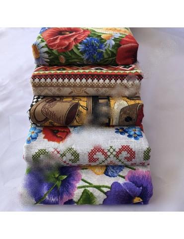 Льняные полотенца размер 35*75 см, Украина( в уп. 25 шт) 418