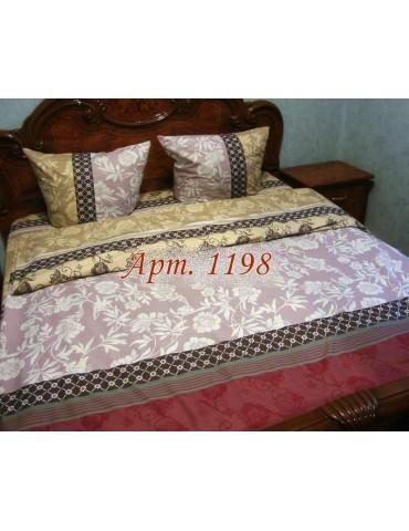 Двуспальный комплект постельного белья из ранфорса, рисунок 3Д, 100% хлопок, Арт.1198