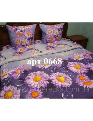 Двуспальный комплект постельного белья из ранфорса, рисунок 3Д, 100% хлопок, Арт. 0668