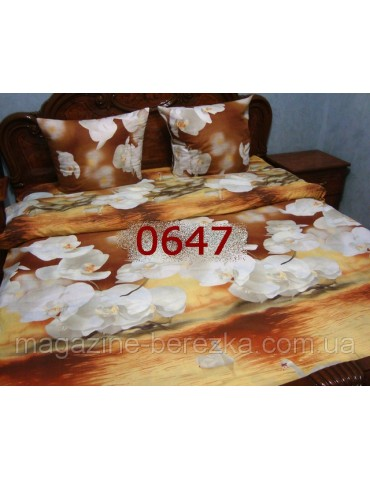 Комплект постельного РАНФОРС, рисунок 3Д, 100% хлопок, двуспальный, 2-х СПАЛКА Двуспальный
