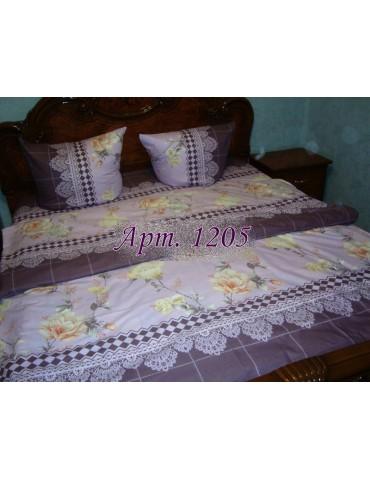 Двуспальный комплект постельного белья из ранфорса, рисунок 3Д, 100% хлопок, Арт.1205