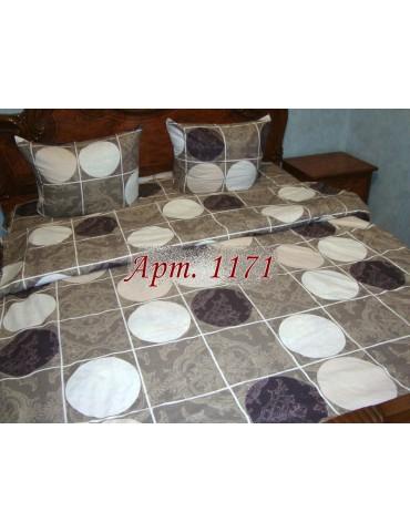 Двуспальный комплект постельного белья из ранфорса, рисунок 3Д, 100% хлопок, Арт.1171
