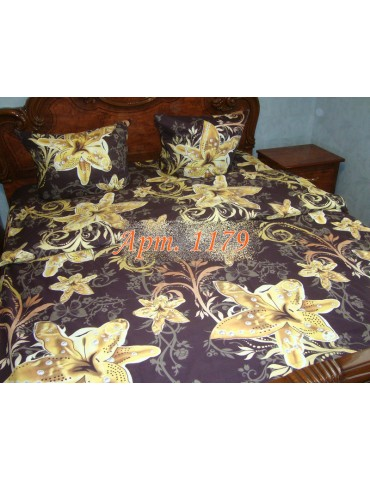 Евро-комплект постельного белья из ранфорса, рисунок 3Д, 100% хлопок, Арт. 1179