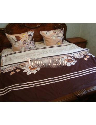 Евро-комплект постельного белья из ранфорса, рисунок 3Д, 100% хлопок, Арт1236