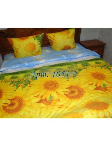 Евро-комплект постельного белья из ранфорса, рисунок 3Д, 100% хлопок, Арт1051-2