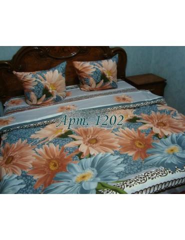 Евро-комплект постельного белья из ранфорса, рисунок 3Д, 100% хлопок, Арт1202