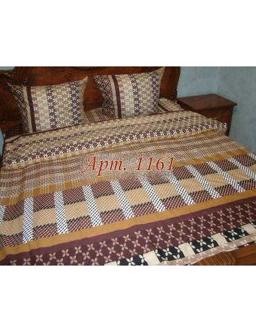 Евро-комплект постельного белья из ранфорса, рисунок 3Д, 100% хлопок, Арт1161