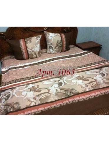 Евро-комплект постельного белья из ранфорса, рисунок 3Д, 100% хлопок, Арт1065