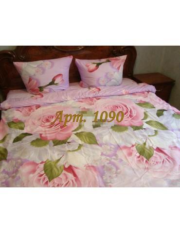 Евро-комплект постельного белья из ранфорса, рисунок 3Д, 100% хлопок, Арт1090