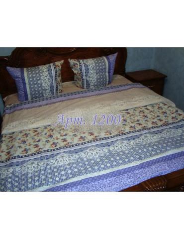 Евро-комплект постельного белья из ранфорса, рисунок 3Д, 100% хлопок, Арт1200