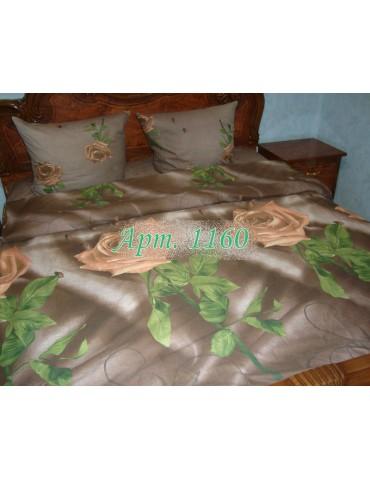 Евро-комплект постельного белья из ранфорса, рисунок 3Д, 100% хлопок, Арт1160