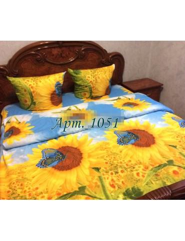 Евро-комплект постельного белья из ранфорса, рисунок 3Д, 100% хлопок, Арт1051