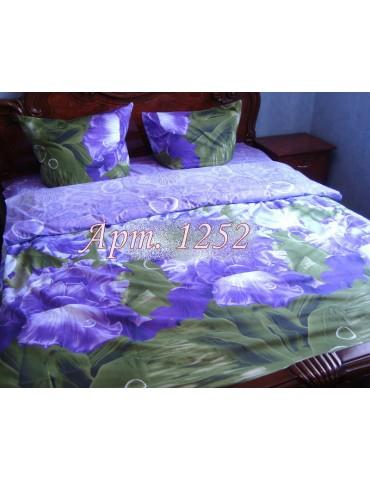 Евро-комплект постельного белья из ранфорса, рисунок 3Д, 100% хлопок, Арт.1252