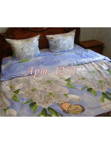 Евро-комплект постельного белья из ранфорса, рисунок 3Д, 100% хлопок, Арт1251
