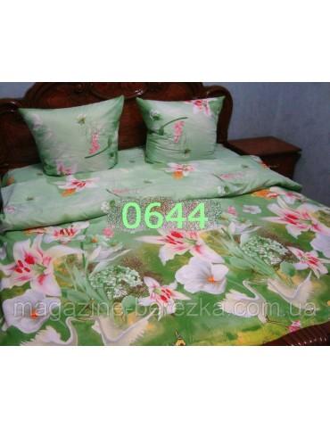 Полуторный комплект постельного, ранфорс, рисунок 3Д, 100% хлопок, Арт. 0644