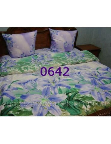 Полуторный комплект постельного, ранфорс, рисунок 3Д, 100% хлопок, Арт. 0642