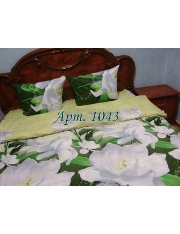 Полуторный комплект постельного, ранфорс, рисунок 3Д, 100% хлопок, Арт. 1043