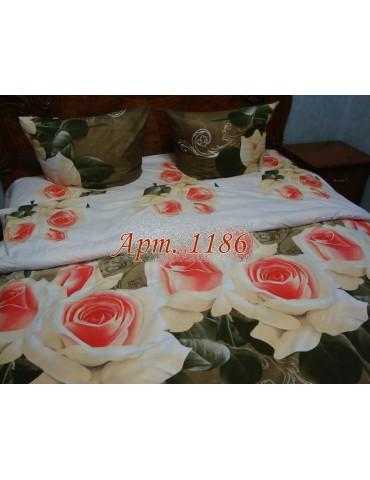 Полуторный комплект постельного, ранфорс, рисунок 3Д, 100% хлопок, Арт.1186