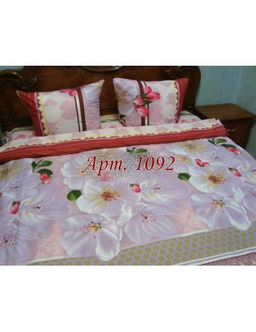 Полуторный комплект постельного, ранфорс, рисунок 3Д, 100% хлопок, Арт. 1092