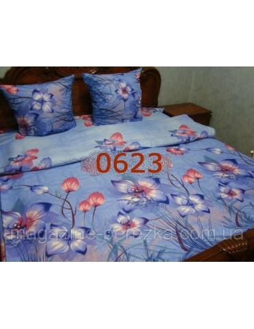 Полуторный комплект постельного, ранфорс, рисунок 3Д, 100% хлопок, Арт. 0623