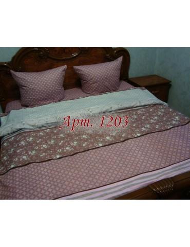 Полуторный комплект постельного, ранфорс, рисунок 3Д, 100% хлопок, Арт. 1203