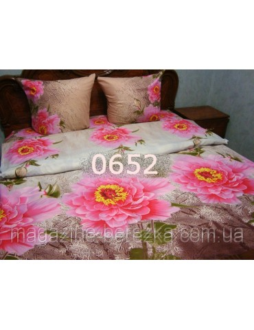 Полуторный комплект постельного, ранфорс, рисунок 3Д, 100% хлопок, Арт. 0652